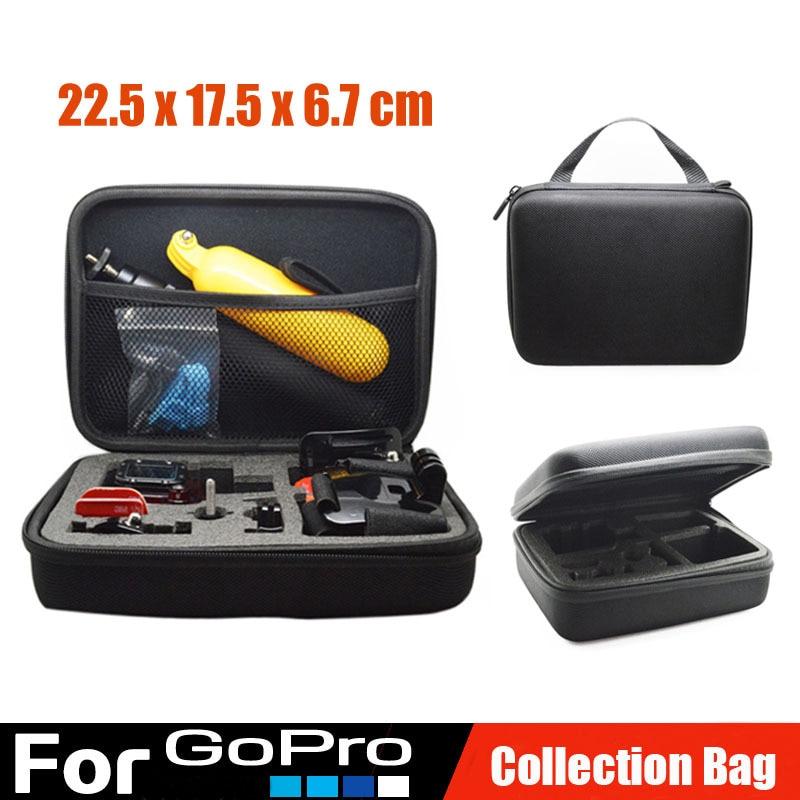 Gopro аксессуары портативный среднего размера водонепроницаемая камера сумка чехол Go pro герой 4 3 + Xiaomi Yi действия камеры SJ4000 SJ5000 SJ6000