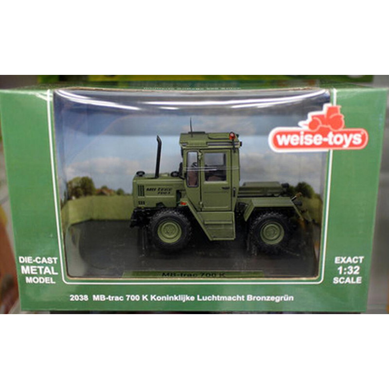 1/32 Scale Diecast Metal MB Green Tractor Models Engineering Agricultural Car Series Children Toys 2038 MB-trac 700K