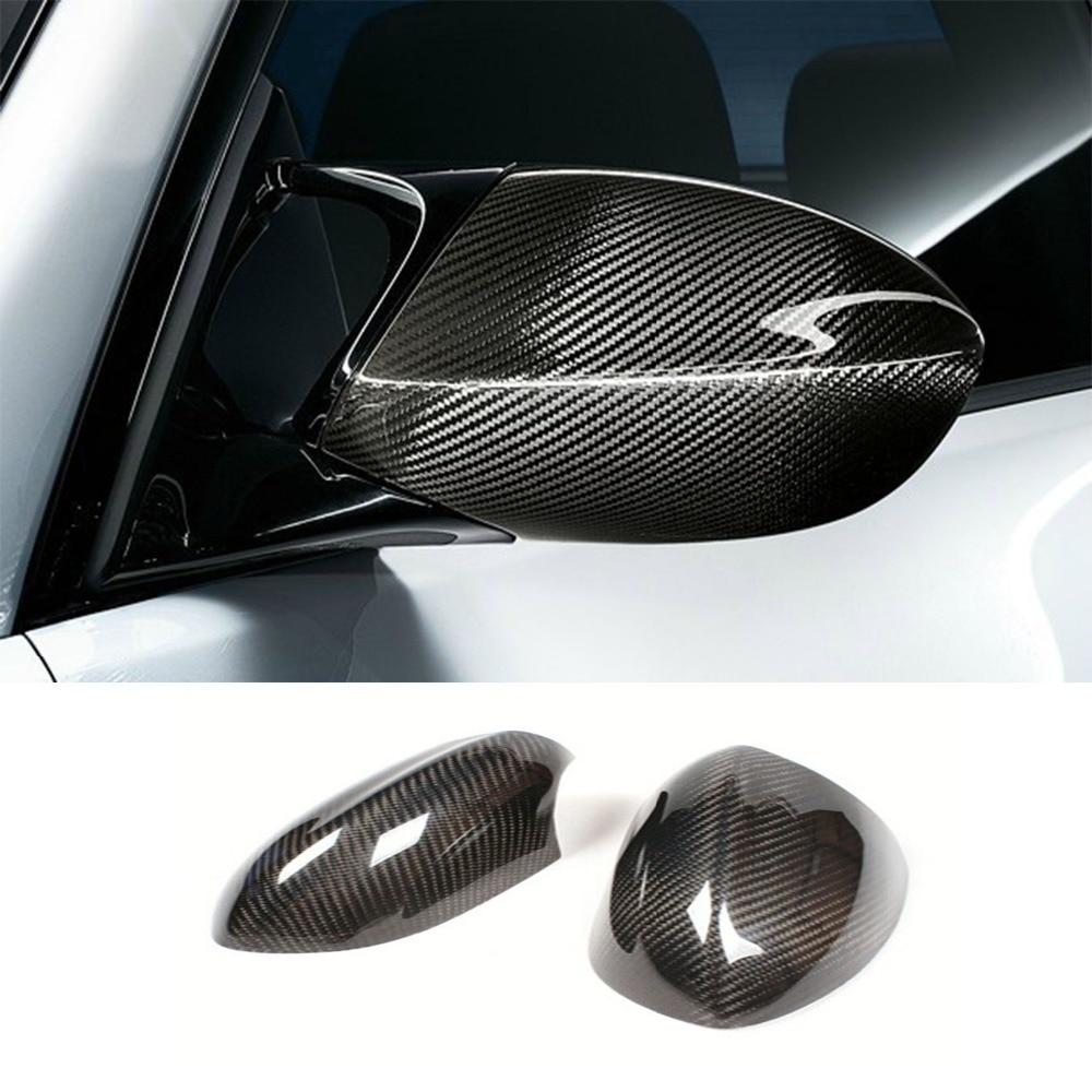 E92 M3 Carbon Fiber car Rear Mirror cap cover trim for BMW E92 2006-2013 car styling for bmw m real carbon fiber handbrake cover fitting kit e87 e90 e92 e60 e63 e64 m5 m3 m tec