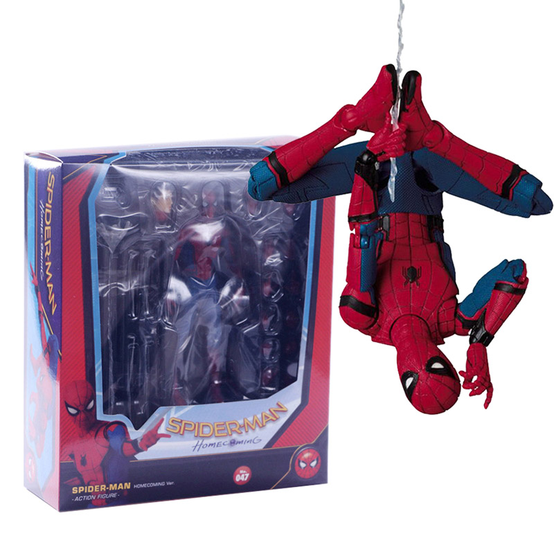 TOFOCO 18cm PVC Spiderman Action Figure Toy Hero Spider Man Figurine Model Anime Movie Figure Collection Toy For Boys In Box the flash man action figure kid toys pvc collection model toy gift for children 18cm