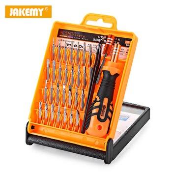 Juego de destornilladores de precisión 33 en 1 para iPhone, tabletas, teléfonos móviles, PC, reloj, Mini herramientas de reparación electrónica