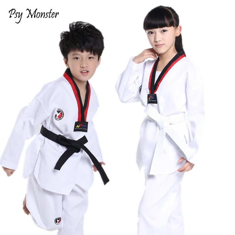 Children Kimono Judo Kickboxing Practice Costume White Kids Boys Girls Taekwondo Suit Karate Tae Kwon Do Clothes F106