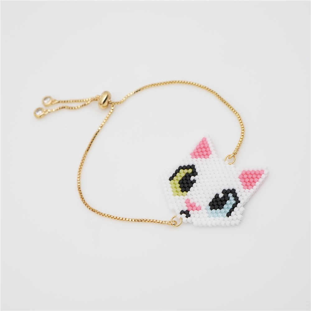 Go2boho Fox Bracelet Perles MIYUKI Lovely Pulseiras Mujer 2019 Handmade Child Jewelry Gift Pink Women Fashion