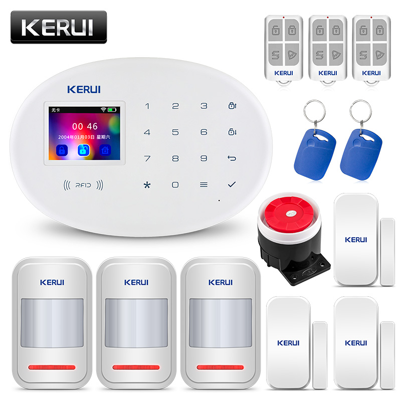 KERUI W20 2 4 inch TFT Screen Touch Number Panel Wireless WiFi GSM Home Security Burglar