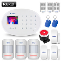KERUI W20 2.4 inch TFT Screen Touch Number Panel Wireless WiFi GSM Home Security Burglar Alarm System RFID Card Arm Disarm