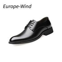 EuropeWind Marca Pattini di Cuoio Genuini Degli Uomini di Oxford di Alta Qualità Comodo Degli Appartamenti Degli Uomini Pattini di Vestito Degli Uomini D'affari Scarpe Grande Formato