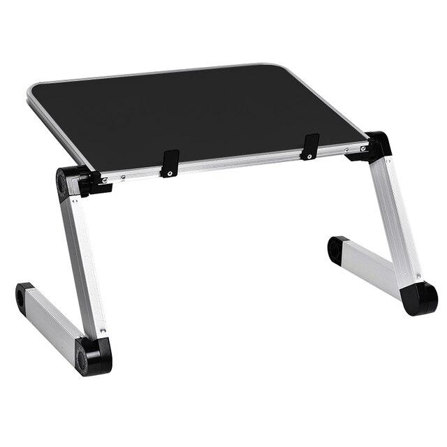 Алюминиевый сплав портативный складной регулируемый стол для ноутбука компьютерный стол подставка лоток для ноутбука ПК складной стол