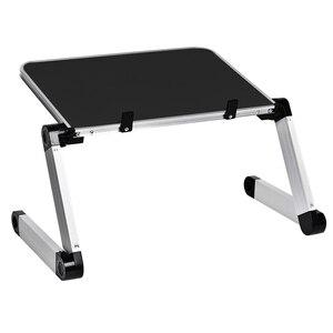 Image 1 - Aluminum Alloy Laptop Portable Foldable Adjustable Laptop Desk Computer Table Stand Tray Notebook Lap PC Folding Desk Table