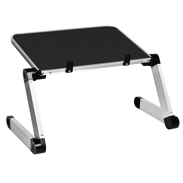 Aluminum Alloy Laptop Portable Foldable Adjustable Laptop Desk Computer Table Stand Tray Notebook Lap PC Folding Desk Table