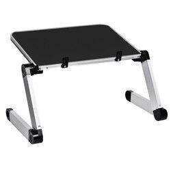 Portátil de aleación de aluminio, portátil, plegable, ajustable, portátil, escritorio, mesa de ordenador, soporte, bandeja, portátil, mesa de escritorio plegable