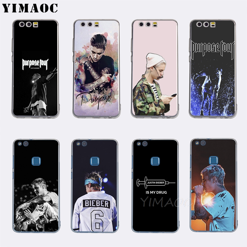 Yimaoc Justin Bieber Purpose Tour Soft Tpu Case Cover For Huawei P 8 9 10 20 Lite 2015 2016 2017 P 20 Pro P Smart 2019 Case Good For Antipyretic And Throat Soother Fitted Cases Cellphones & Telecommunications