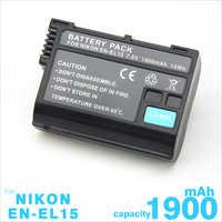 EN-EL15B EN EL15b Batterie Pour Appareil Photo Nikon Z6 Z7 Hybride D850 D810 D750 D610 D7500 D7200 MH-25 MB-D15 EN-EL15 EN-EL15A