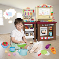 Kids Kitchen Set Multifunction Play Toy Utensils Kitchen Items Pretend Play Toys Role Playing Games for Children Kitchen Toy Boy
