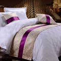 yazi Golden Leaf Bed Runner Scarf Bedding End Bed Tail Towel for Home Hotel Wedding Decor 50x180cm 50x210cm 50x240cm