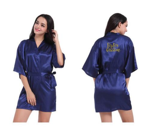 personalised robes sister of the bride bridal party robes sister of the groom gold letters wedding gift plus size robe in robes from womens clothing