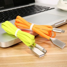 Zinc Alloy USB Charging Cable For Mobile Phone Flash Apple iPhone 6 7 8 X Micro and Type-C Date Line
