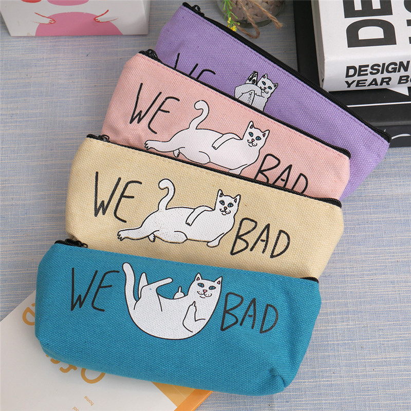 Women Travel Toiletry Cosmetic Bag Pencil case Make Up Makeup Case Storage Pouch Purse Organizer Cartoon Cat Makeup Tote bag multifunctional women makeup storage bag travel pouch hanging toiletry organizer