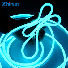 hot deal buy zhinuo 220v smd2835 led strips ice blue flexible high brightness outdoor neon-light advertisement sign waterproof soft lamp belt