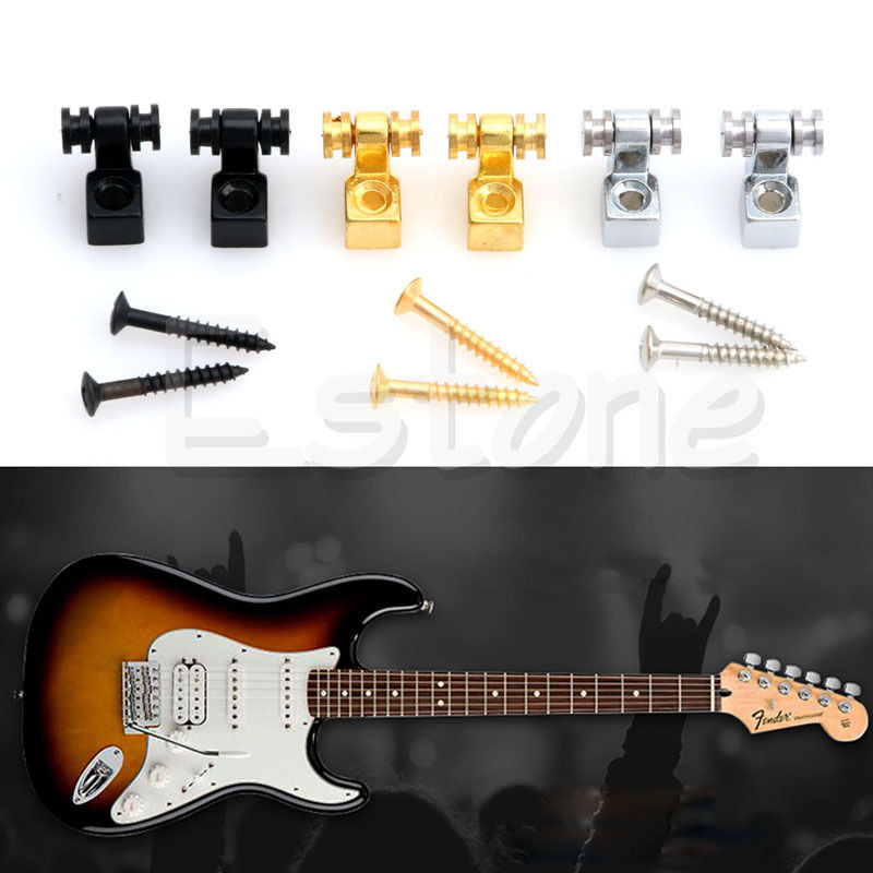 6pcs lot metal string retainer trees roller guitar parts accessories new in guitar parts. Black Bedroom Furniture Sets. Home Design Ideas