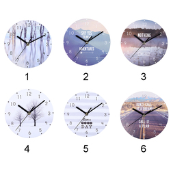 Arabic Numerals Round Big Dial Bedroom Mute Wall Clock Home Decoration Gift Practical Hanging Retro Wooden European Style
