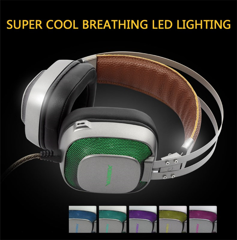 XIBERIA K10 Gaming Headphones casque USB Computer Stereo Heavy Bass Game Headset with Microphone LED Light for PC Gamer (11)