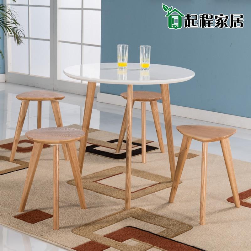 japonais nordic table ronde table ronde petit appartement minimaliste ikea bois de table et blanc laque piano table ronde