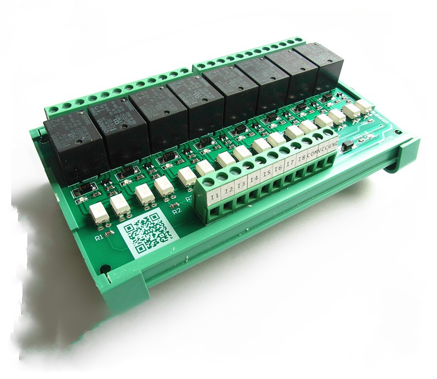 8-channel relay control module driver board control board amplifier board PLC microcontroller 8 omron relay module driver board microcontroller module eight plc enlarged board