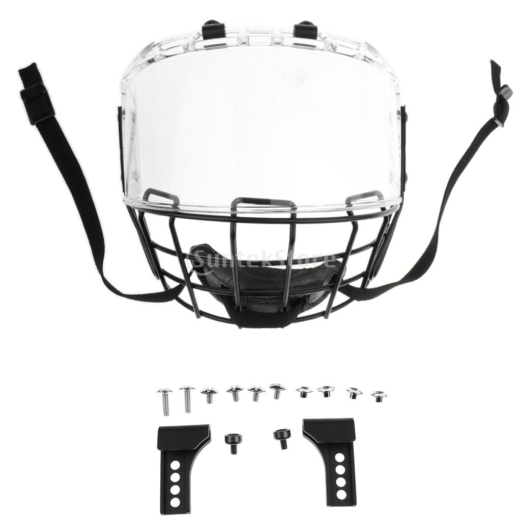 CE Certification Impact Resistance Anti-Scratch Anti-Fog Ice Hockey Face Shield Mask Cage Visor with Mounted Kits цена