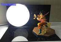 Dragon Ball Z Toys Son Gokou Triple Kaiouken Kamehameha Display Light DIY Dragonball Z Goku DBZ With Base And Bulb