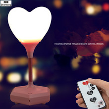Creative Cozy Led Third Gear Touch Remote Control USB Charging Heart-shaped Night Light Love Silicone Can Record Small Desk Lamp love heart shaped confession gift led night light
