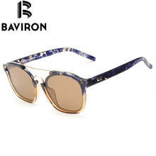 BAVIRON Tortoise Square Sunglasses Women Polaroid Lenses Vintage Glasses Flexible Fashion Glasses UV400 Protecting Gafas B26049