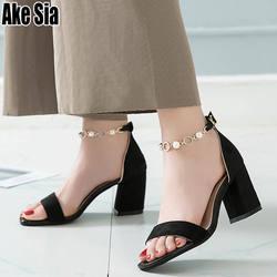 Женские босоножки высокого качества, модные пикантные босоножки на высоком каблуке, украшенные кристаллами и жемчугом, женские босоножки