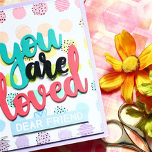 DiyArts Metal Cutting Dies Letters You Are Loved Words Scrapbooking Craft Card Making Album Embossing New