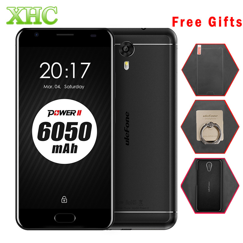 Ulefone Power 2 64GB 6050mah Mobile Phone Front Fingerprint 5 5 inch Android 7 0 MTK6750T