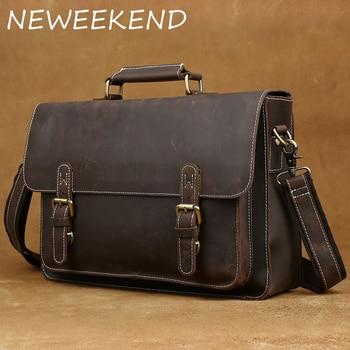 6096e2c540f4 Мужские портфели, роскошные сумки из натуральной кожи, через плечо, сумки  через плечо,