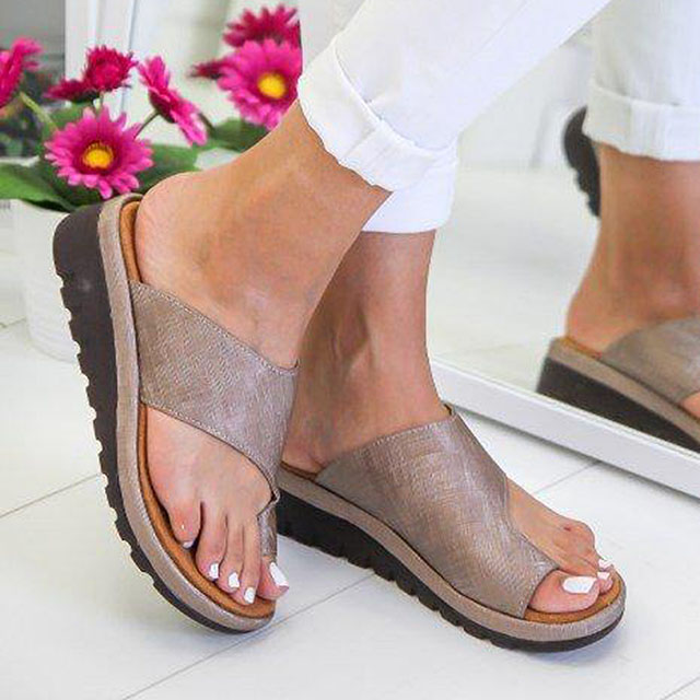 Women Sandals Factory Direct Summer Shoes Woman Soft Big Toe Foot Correction Sandalias Mujer Wedges Shoes Female Heels Flip FlopWomen Sandals Factory Direct Summer Shoes Woman Soft Big Toe Foot Correction Sandalias Mujer Wedges Shoes Female Heels Flip Flop