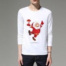"""Рождественские мужские/женские футболки с длинным рукавом и 3D рисунком, рождественские мужские футболки с рисунком, повседневные брендовые топы, футболка """"Merry Christmas"""""""
