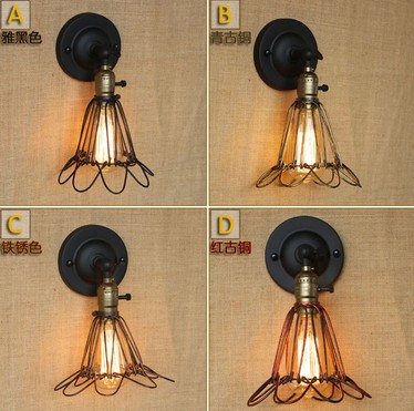 Edison Wall Sconce Retro Loft Style Vintage Wall Lamp For Home Antique Industrial Wall Lights Indoor Lighting Lampara Pared retro loft style rope edison wall sconce vintage wall lamp antique industrial wall lights for home indoor lighting arandela