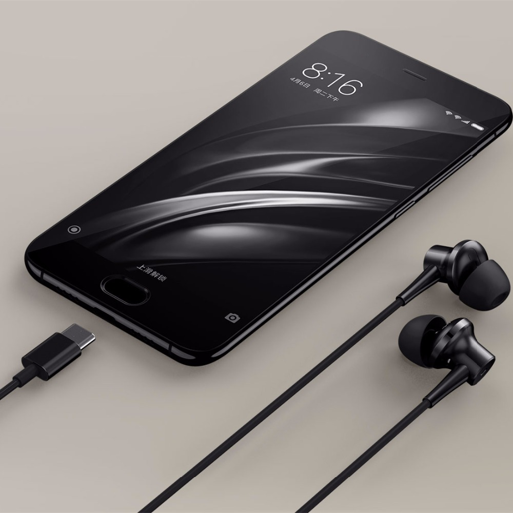 Original Xiaomi ANC Kopfhörer Typ C Noise Cancelling Kopfhörer Verdrahtet Mit Mic Für Xiaomi Max 2 Mi6 Smartphone Hybrid HD - 5