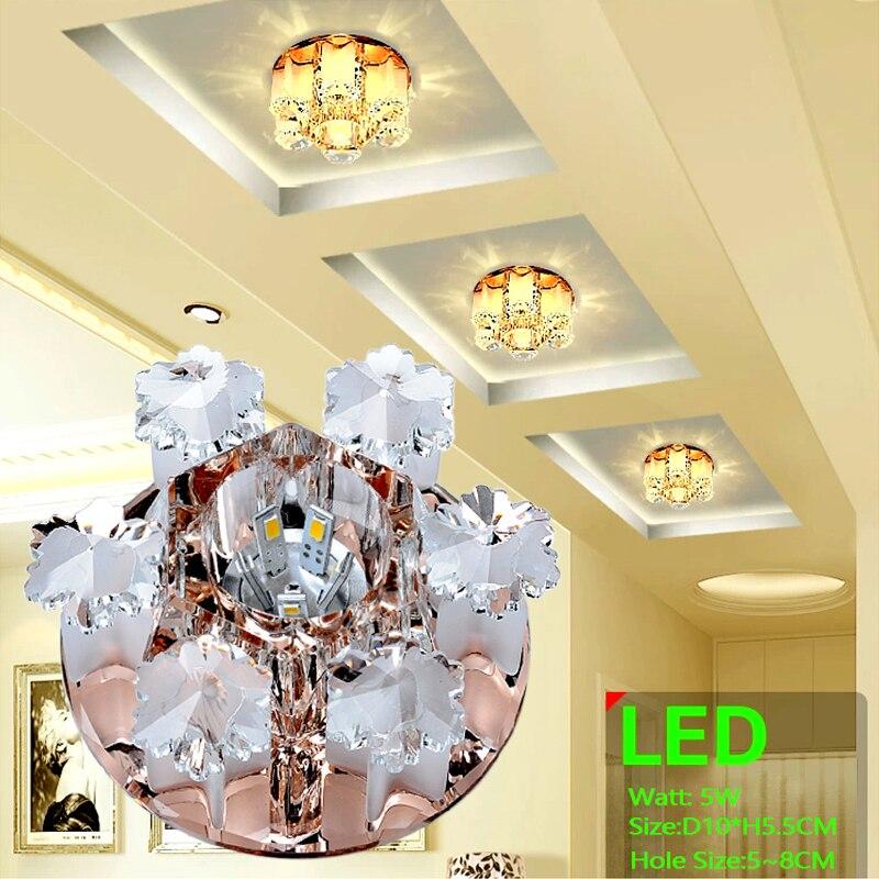 Laimaik Cristal de luz de techo LED 3 W 5 W pasillo LED lámpara ac90-260v moderno LED techo Lámparas para sala cristal led