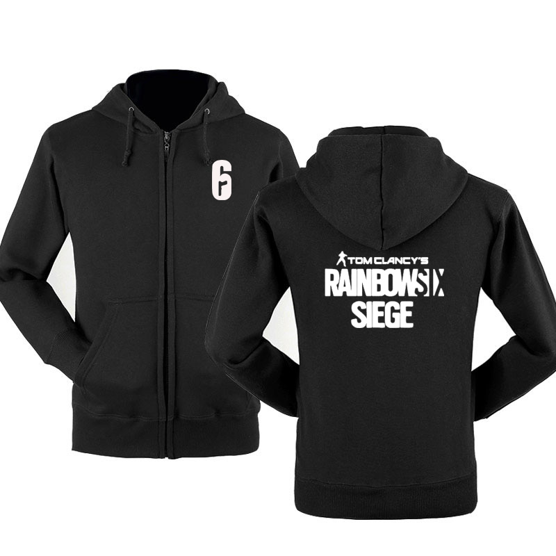 Rainbow Six Siege Sweatshirt Hoodies Men Hoody Spring Autumn Fleece Cotton Zipper Jacket Hoodie Hip Hop Harajuku Male Clothing