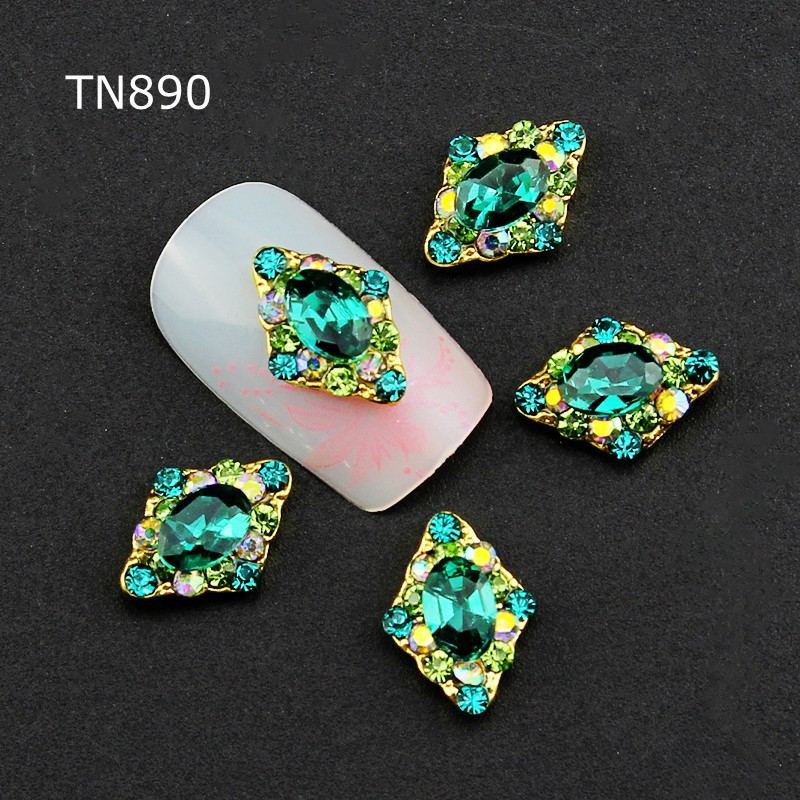 3d Nail Art Decorations,10pcs Glitter Green Rhinestones Alloy Nail Sticker Charms Jewelry for Nail Polish Tools Accessories Gift 10pcs pack glitter green rhinestones nail art decorations alloy 3d nail jewelry charms nails tools free shipping