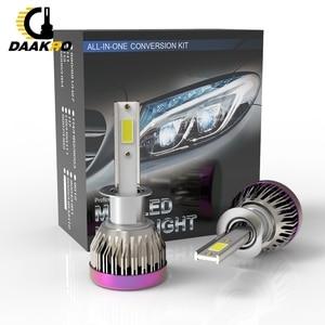 Image 3 - 2PCS Car Headlight Mini Lamp H8 H9 H11 9005 H1 H7 LED Bulbs Headlamps 6000k Fog light 12V Lamp 8000LM Head Light Custom Made