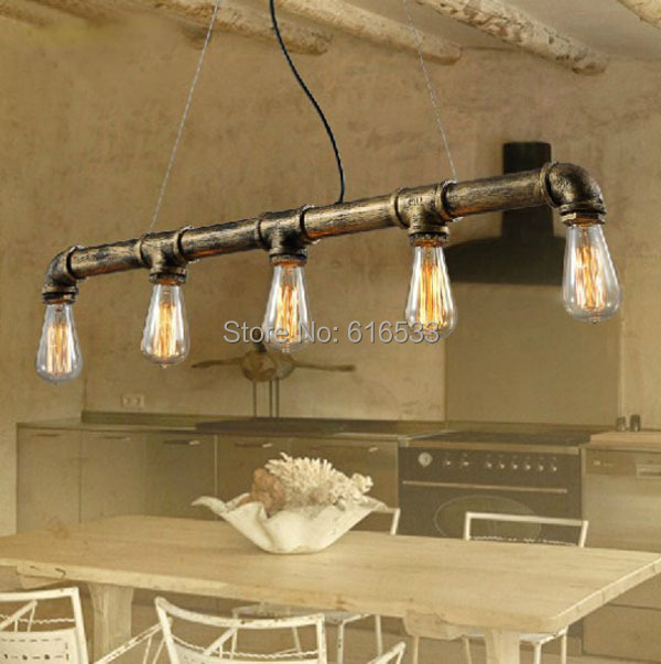 Industry Modern Vintage American Loft Lustre Water Pipe Edison Pendant Light Personality Dinning Bathroom Home Decor Lighting lustre vintage industry american country loft edison ceiling lamp kitchen dinning living room modern home decor lighting fixture