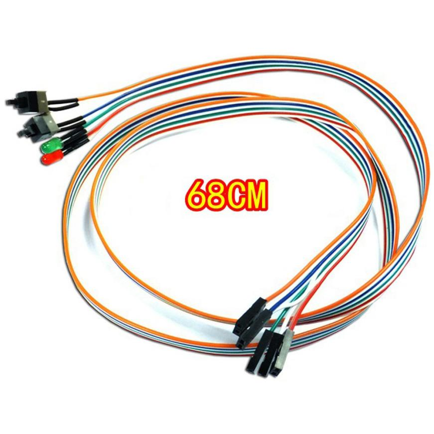 68CM Slim ATX PC Compute Motherboard Power Cable Original 2 Switch On/Off/Reset with LED Light July03 magrs paul doctor who hornets nest 5 hive of horror