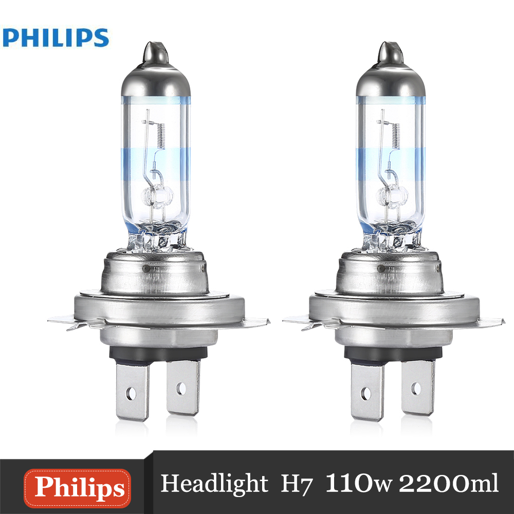 Philips H7 2Pcs 110W 2200LM Car Headlights Bulb Kit Auto Front Light Fog Light Bulbs 3700K Halogen Automotive Headlamps
