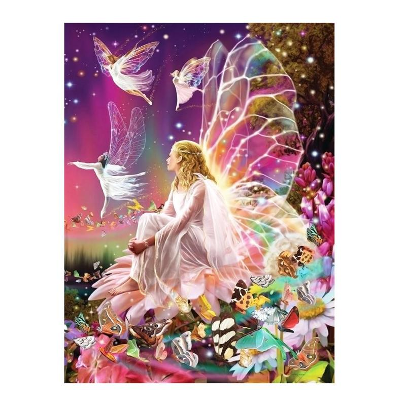 Full Drill 5D DIY Diamond Painting Butterfly Fairy Angel Rhinestone Pictures