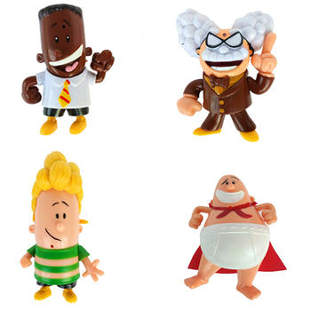 Captain Underpants Action Figure Toys George Beard Harold Hutchins Benny Krupp Juguetes Anime Figure Toys For Kid недорого