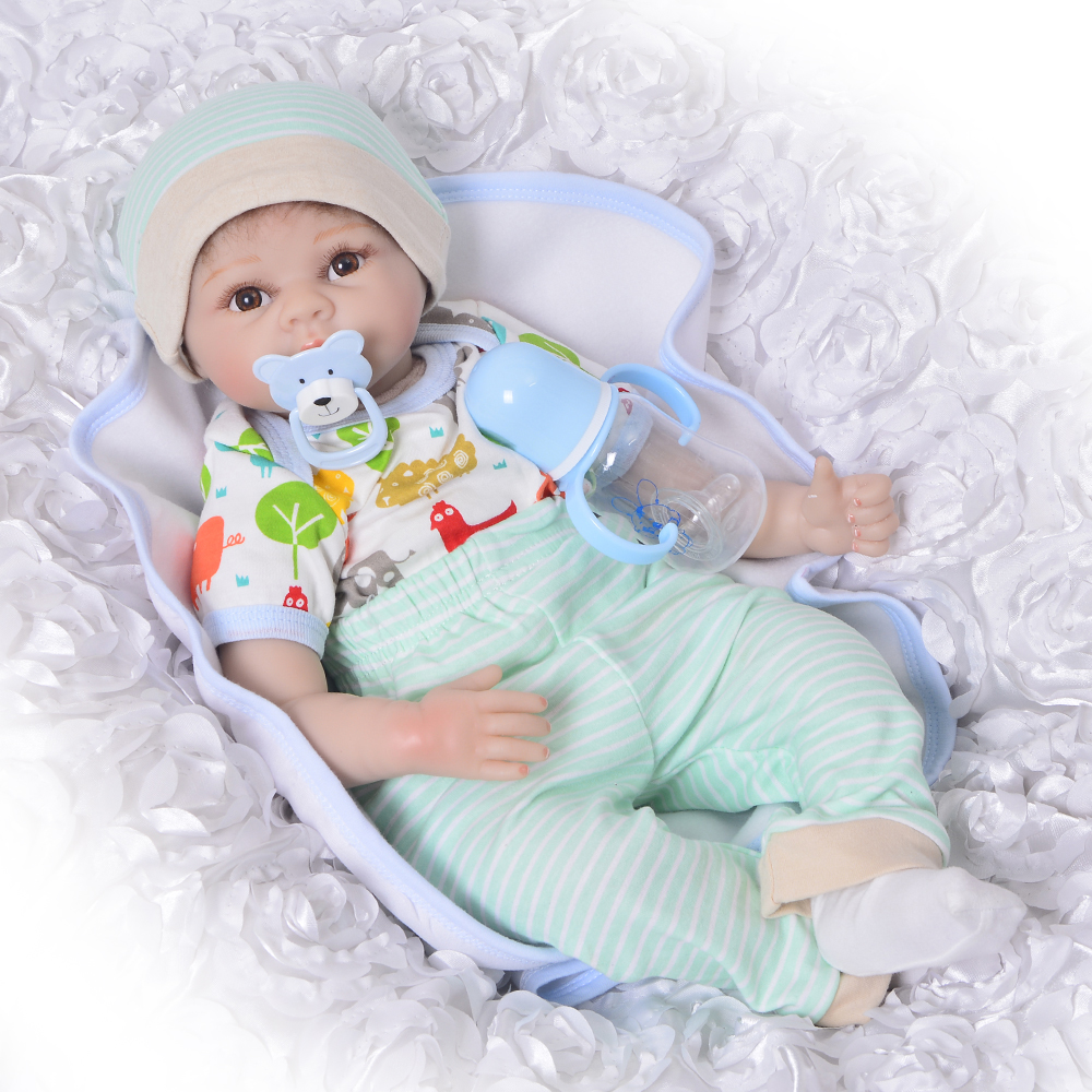 KEIUMI 22 Inch Doll Kids Playmates Gifts For Boy Realistic Silicone Reborn Baby Dolls 55 cm Soft Vinyl Body Fashion Boneca Toy keiumi 22 55 cm realistic baby alive boy doll soft silicone vinyl lifelike reborn doll toy for toddler birthday xmas gifts
