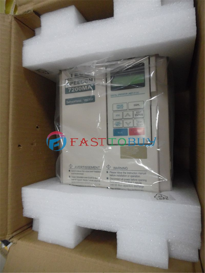 NEW Variable Frequency Drive 7200MA-240V-1HP 0.75KW 1HP 220V 400Hz TECO 7200MA VFD 1Year Warranty new vfd variable frequency drive inverter 0 75kw 1hp 380v 400hz teco 7200ma vfd cnc spindle motor speed control 1year warranty